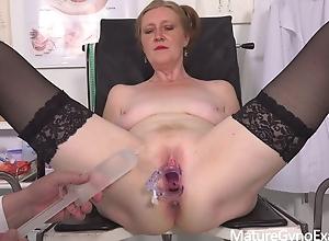 Sexy GILF Angelina Gyno Testing