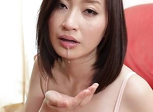 Japanese amateur wife Ami Kikukawa sucks dick, uncensored