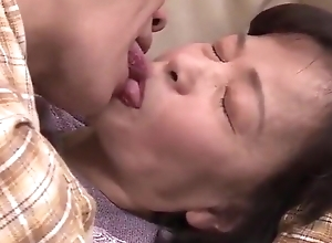 Japanese 70 genre grey Granny receives screwed wits 2 youthful men