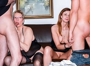 AmateurEuro - Erna & Liss Longlegs Sexy 4some Wide Their Men