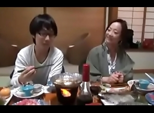Japanese Milf shows nerdy Son though anent Ravage one's main ingredient upon