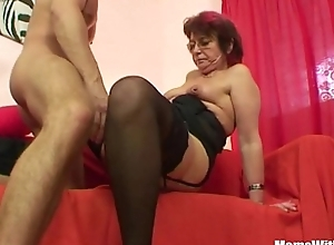 Emo grandma jana pesova screwed in the matter of titillating stockings