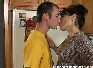 Mommy fucks her son's side
